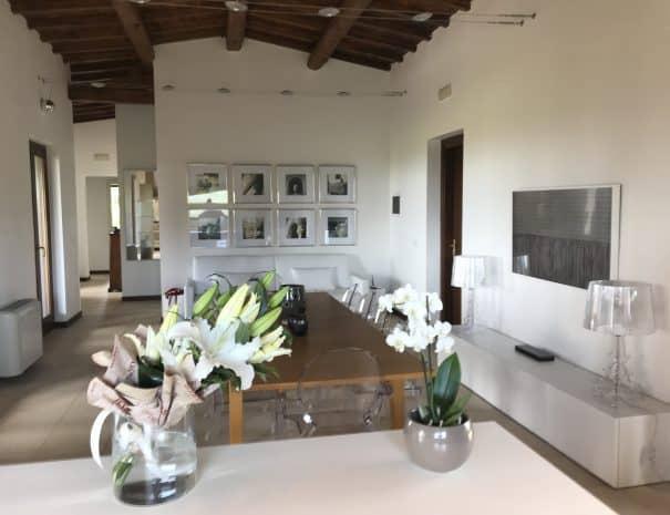 Dining / living room of Villa Linnazello
