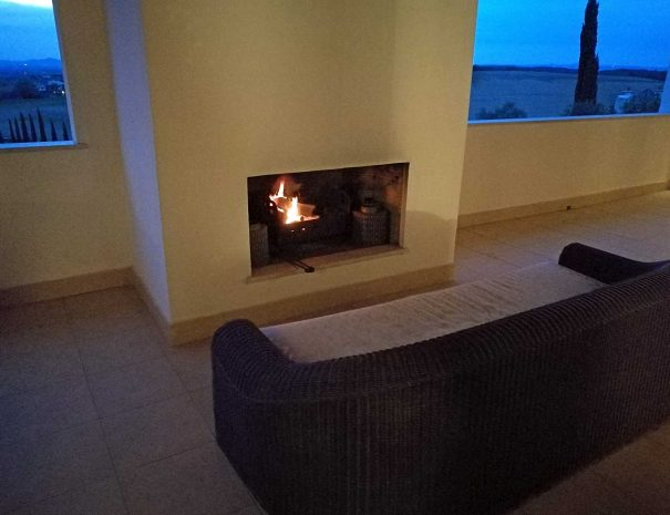 The terrace fireplace